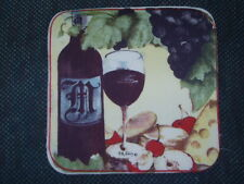 """6 MERLOT Wine fabric pieces 8""""x8"""" - made for potholders - NEW"""