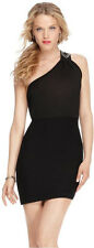"NWT GUESS ""Anna"" One-Shoulder beaded embellishment Body-Con fit Dress top size L"