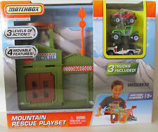 Matchbox Mountain Rescue Play Set with 3 Levels to Play & 3 Trucks Included