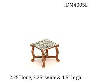 MARBLE END TABLE 1:12 DOLLHOUSE MINIATURES by IDM Miniatures Heirloom Collection