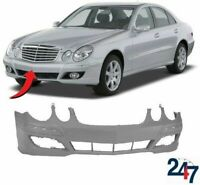 FRONT BUMPER W/O HEADLIGHT WASHER AND PDC HOLES FOR MB E W211 07-09