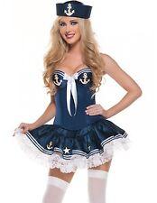 Navy Paris Sailor Girl Cosplay Halloween Fancy Dress Costume (Blue)
