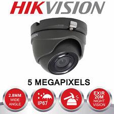 ORIGINAL BLACK HIKIVISION 5MP CCTV CAMERA DS-2CE56H0T-ITMF 5MP ANGLE UK SPEC