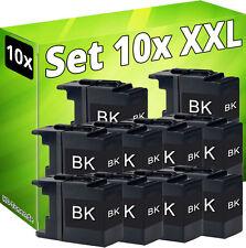 10x cartuchos para Brother lc1220bk lc1240bk lc1280xl-bk DCP j525w j725dw j925dw
