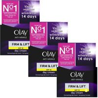 3 x Olay Anti-Wrinkle Firm & Lift SPF 15 Anti-Ageing Day Cream Moisturiser 50ml