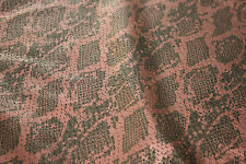 A-1/SNAKE&FISH SCALES PERFORATED REDDIH COPPER  BLACK XL SHEEP SKIN HIDE LEATHER