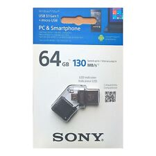 Sony 64 GB OTG (On-The-Go) CHIAVETTA USB 3.0 con LED per i dispositivi Android-Nero.