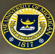 University of Michigan logo sign .. crest insignia