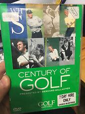 Century Of Golf ex-rental DVD (sports documentary)