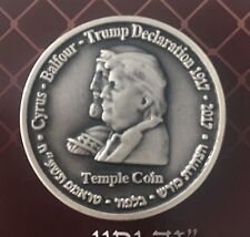 Half Shekel King Cyrus Donald Trump Jewish Temple Mount Israel Coin LIMITED