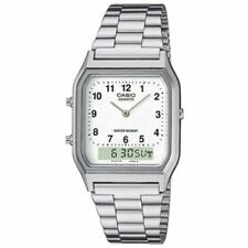Casio Classic Adult Silver Strap Wristwatches