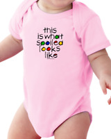 Infant creeper bodysuit One Piece t-shirt This Is What Spoiled Looks Like k-465