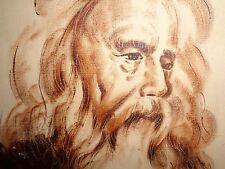 Davis, Edward:(  Listed Mass. Artists):O/C Portrait of Leonardo Davinci? Sepia t