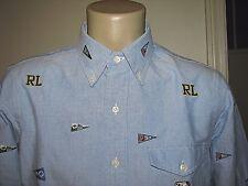 Hombre (xxl) Polo-ralph Lauren azul camisa Oxford