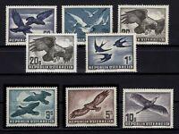 P126420/ AUSTRIA – AIRMAIL – 1950 / 1953 BIRDS COMPLETE MINT MNH – CV 385 $