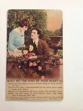 Bamforth Antique Postcard Make Me The King Of Your Heart (2) 4817/2 Original