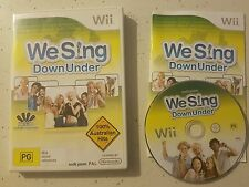 We Sing Down Under Nintendo Wii - Complete- Fast Free Post! PAL- VGC Rare!