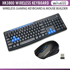 2.4GHZ WIRELESS GAMING KEYBOARD AND MOUSE BUNDLE FOR LAPTOP PC PLUG & PLAY