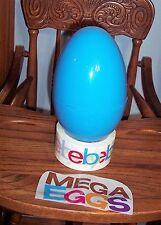 """Jumbo Mega 8"""" BLUE Plastic Surprise Prize Gift Easter Egg NWOT"""