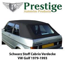 VW Golf 1 Cabrio Verdeck Verdecke Schwarz Stoff 1979-1993