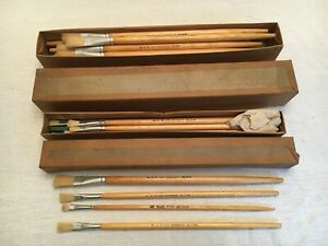 Vintage 1960's Paramount New York City Board Of Education Paint Brush Lot of 25