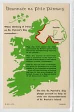 "WHEN THINKING OF IRELAND....."" Irish political postcard (C31712)"