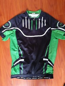 NUCKILY Mens Bicycle Bike Short Sleeves Jersey Cycling Size 2XL Zip Through Up