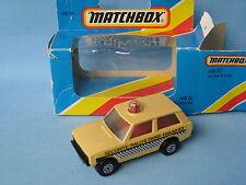 Lesney Matchbox 20 policía patrulla Dakar Beige Range Rover rola-Matic En Caja