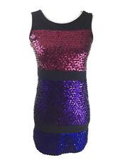 NEW Nicole Miller Dress Sz Large Sheath Pencil Sequin Ladies Colorblock Cocktail