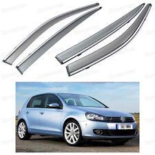 Front & Rear Window Visor Deflector Vent Shade for Volkswagen Golf 2009-2012 MK6