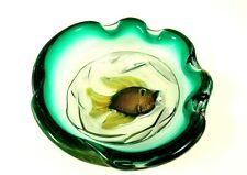 Murano Art Glass Barbini Gold Aventurine Aqua Fish Bowl Cenedese