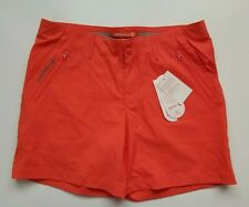 MERRELL Women's Orange Shorts Size 8 Wicking UPF 50+ Pockets Stretch NWT