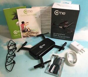 C-me Foldable GPS Quadcopter Drone 8MP Digital Camera Full HD 1080p Video Black