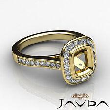 Diamond Engagement VS1-VS2 Ring Cushion Shape Semi Mount 18k Yellow Gold 0.5Ct