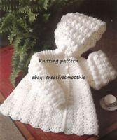 (432) Stunning Baby Hooded Jacket, 4 Ply Crochet Pattern