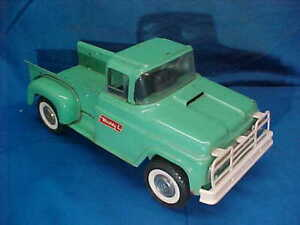 1960s BUDDY L Pressed Steel STEPSIDE PICK UP TRUCK Orig Turquoise Paint
