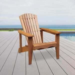 Silver & Stone Tropicana Adirondack Wooden Garden Chair Outdoor Patio Furniture