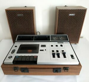 VINTAGE 1972 SONY TC-133 STEREO CASSETTE PLAYER/RECORDER - WORKING