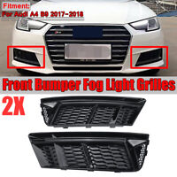 STANDARD Front Bumper Lower Fog Light Grille Cover Trim For Audi A4 B9 2017-2018