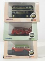 OXFORD DIECAST NOB005, NDEN001, NRM008 - BEDFORD OB, ROUTEMASTER &  FIRE ENGINE