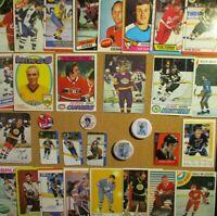 1970-71/80's+ NHL Lot [] Bobby Orr/Gretzky/Lemiuex/Hull/Dryden/Ovechkin/Yzerman+