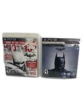 Batman: Arkham City & Arkham Origin Lot Of 2 Sony Playstation 3 PS3 Complete