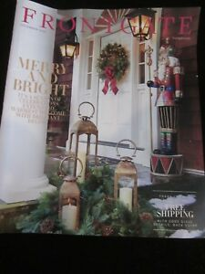 Frontgate Catalog December 2016 Merry And Bright Season of Celebrations New