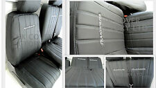 FORD TRANSIT CONNECT 2014+ Van Seat Covers Vertical Binary Quilt PVC - X121BK-GY