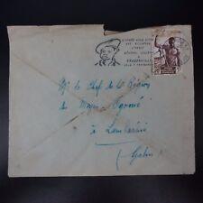 MOYEN CONGO LETTRE COVER CAD BRAZAVILLE 1957 -> CHEF DE REGION DU HAUT OGOOUE