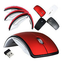 Optical 2.4G Foldable Wireless Mouse Cordless Mice USB Folding Mouse Receiver Js