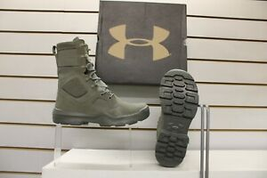 Under Armour FNP Sage Green Suede  / Nylon Combat / Army Boots UK 8.5 EU 43