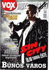 Sin City, Mickey Rourke, Chris Pratt, Philip Seymour Hoffman Hungarian magazine