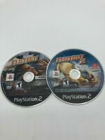 Sony PlayStation 2 PS2 DISC ONLY Flatout 1 + Flatout 2 LOT