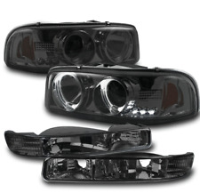 1999+ SIERRA/2000+ YUKON HALO SMOKE PROJECTOR LED HEAD LIGHTS+BUMPER SIGNAL LAMP